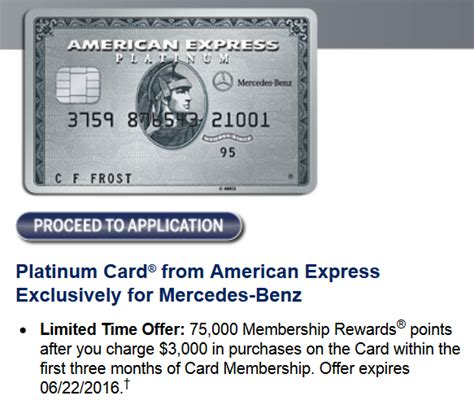 Mercedes Platinum Card by Mercedes Platinum Card 75 000 Point Offer
