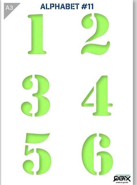Bol Com Cijfer Sjabloon 1 2 3 4 5 6 Karton Stencil A3 42 X 29 7 Cm Cijfers Zijn 9cm 4 3 4 X 6 1 2 Envelope Template