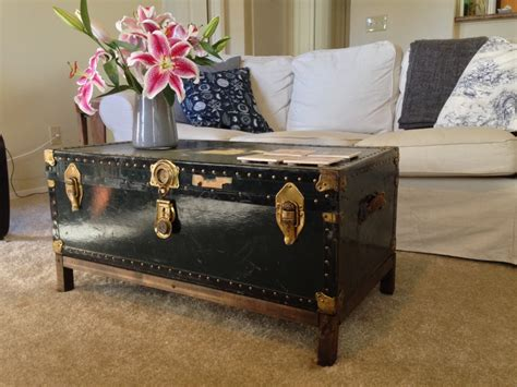 vintage coffee tables vintage steamer trunk coffee table interior home design