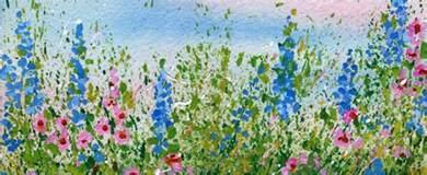 Cloth Wall Murals create a splattered paint flower garden my flower journal