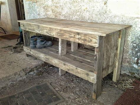 how to make an entryway bench diy pallet entryway bench with shoe rack 99 pallets