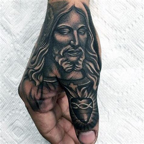 tattoo designs jesus hands 90 thumb tattoos for men left and right digit design ideas