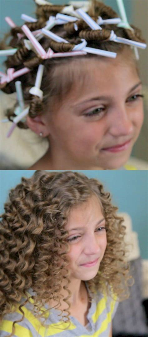 6 easy ways to curl your hair with drinking straws straw