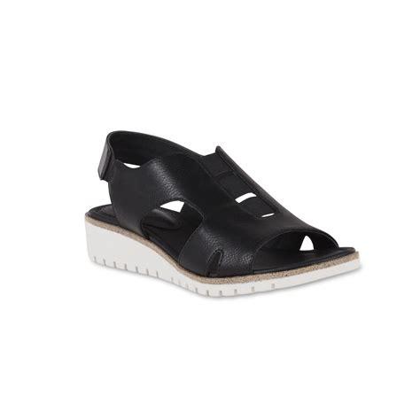 black comfort wedges i love comfort women s tawny black wedge sandal shop