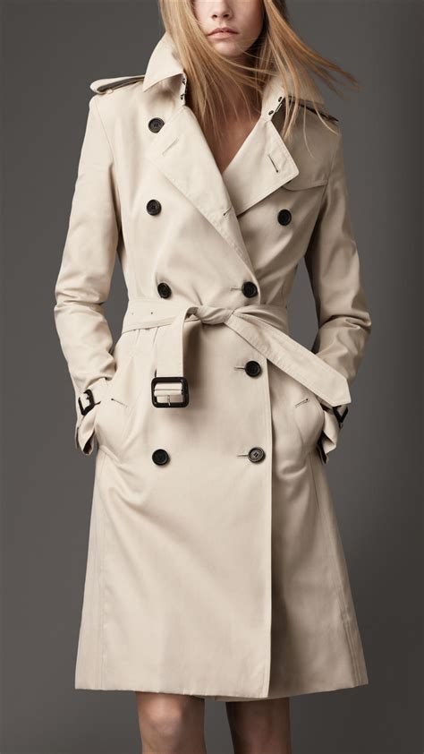 Cotton Trench Coat burberry cotton trench coat in beige trench lyst