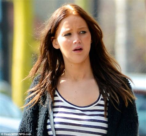 jennifer lawrence natural hair jennifer lawrence steps out with tiger stripe hair as she