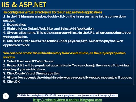 tutorial asp net iis sql server net and c video tutorial part 9 iis asp net