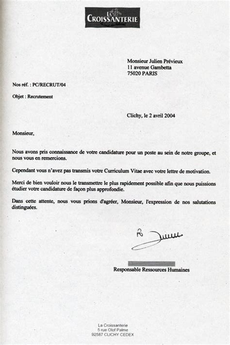 Exemple Lettre De Motivation Stage Yves Rocher exemple de lettre de motivation yves rocher