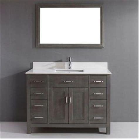 costco studio bathe kalize 48 gray single vanity