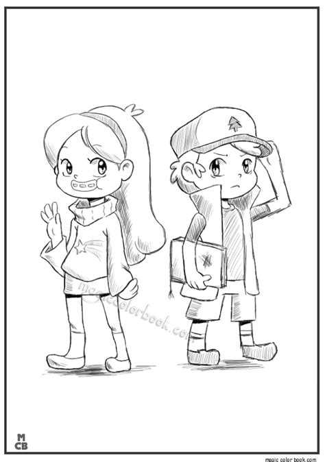 Coloring Pages Of Gravity Falls gravity falls bill coloring coloring pages