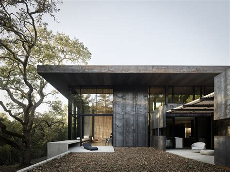 the steel house photo 2 of 14 in nature drove the design of this sculptural cor ten steel house in