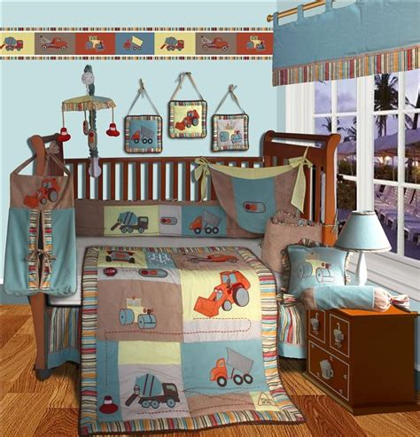 Construction Crib Bedding Set Construction Crib Bedding Construction 4 Crib Bedding Set Baby Luxury Unique Designer Blue