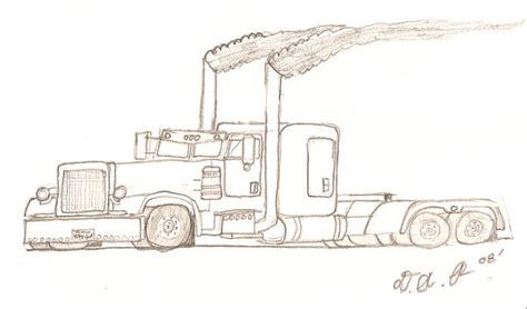 peterbilt semi truck coloring pages sketch coloring page stealth peterbilt 379 by corvettekid96 on deviantart