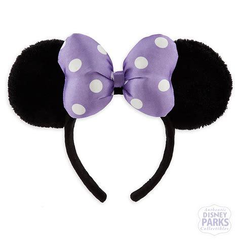 Disney Minnie Ears Headband disney parks minnie satin bow plush ear headband polka dot