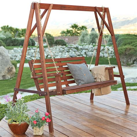 patio swing with stand belham living richmond straight back porch swing stand