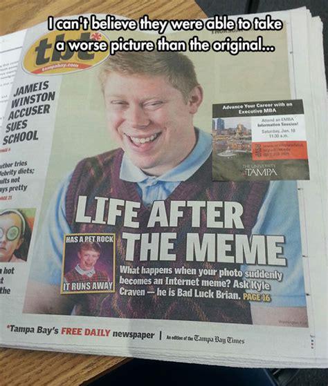 Bad News Brian Meme - bad luck brian