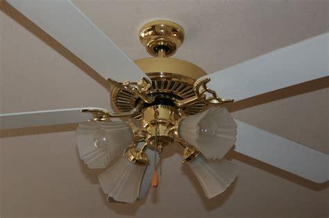 ceiling fan update brassy ness no more windgate