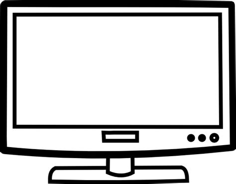 television outline clip art at clker com vector clip art