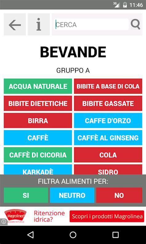 alimenti gruppo 0 dieta gruppo sanguigno app android su play