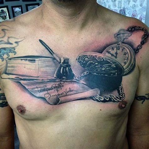 chest tattoos for men writing 75 tattoos for masculine ink design ideas