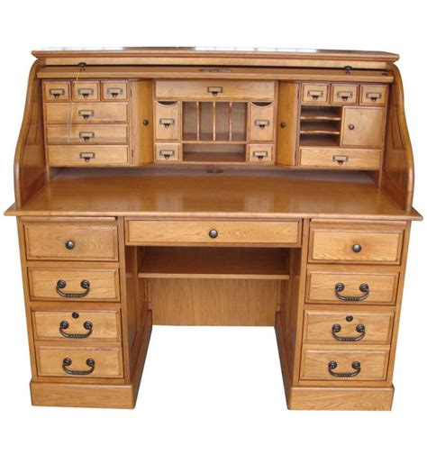 Corner Roll Top Desk 54 Inches Oak Deluxe Rolltop Desk Simply Woods Furniture Pensacola Fl