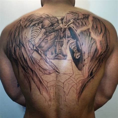 angel tattoo ta warrior angel tattoo for men www pixshark com images