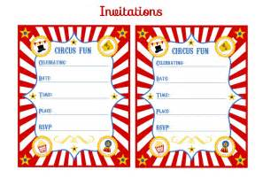 free circus birthday printables from printabelle catch my
