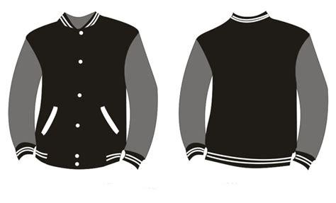 jaket baseball polos hitam abu putih ershop