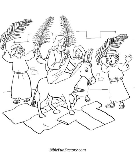Free Palm Sunday Coloring Sheets Printable Sunday School Coloring Pages