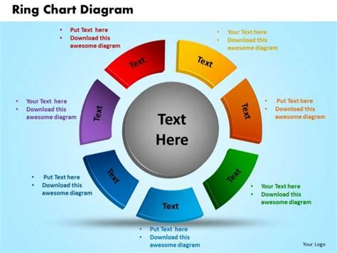 business circle charts powerpoint templates diagram ring