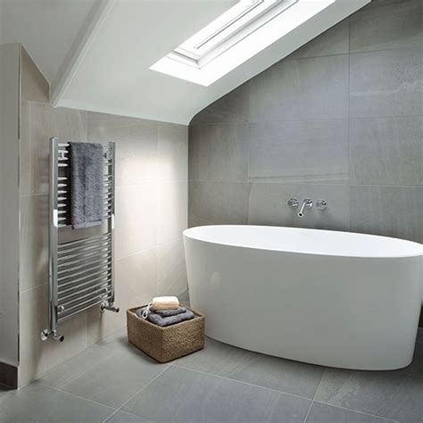 grey and cream tiled modern bathroom spa style bathroom
