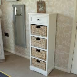 wicker bathroom storage wicker storage unit one drawer four baskets