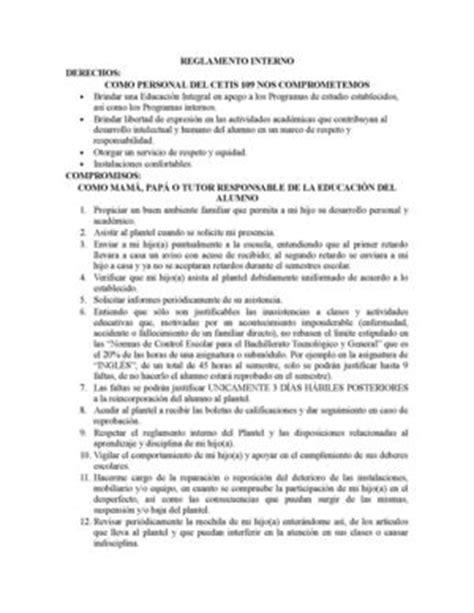reglamento interno de escuelas preparatorias oficiales 2 calam 233 o reglamento de la escuela cetis 109