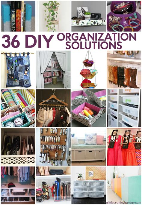 diy solutions 36 diy organization solutions a little craft in your day