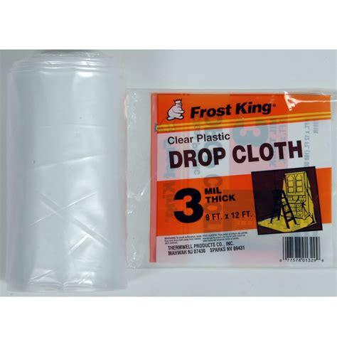 clear plastic drop cloth 10u0027 x king heavy weight plastic drop cloth 9 x 12