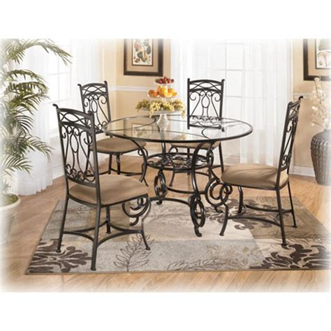 ashley furniture bianca  glass dining table
