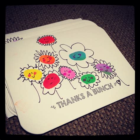 easy thank you card template kindergarten handmade thank you cards the made these for their