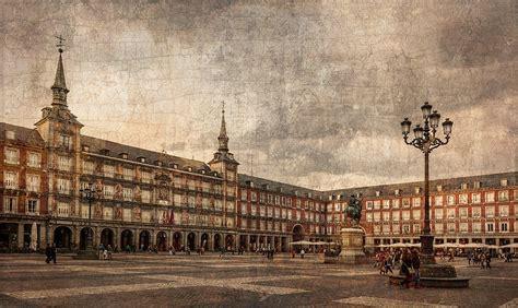 imagenes vintage madrid cuadro plaza mayor de madrid n 186 01