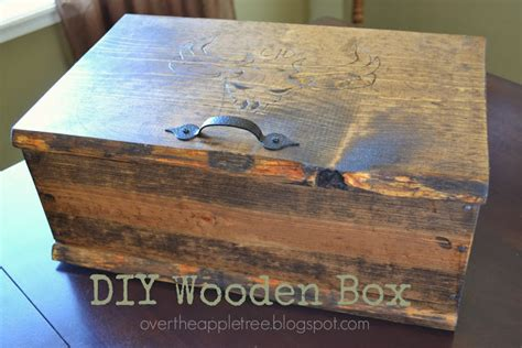 over the apple tree diy wooden box