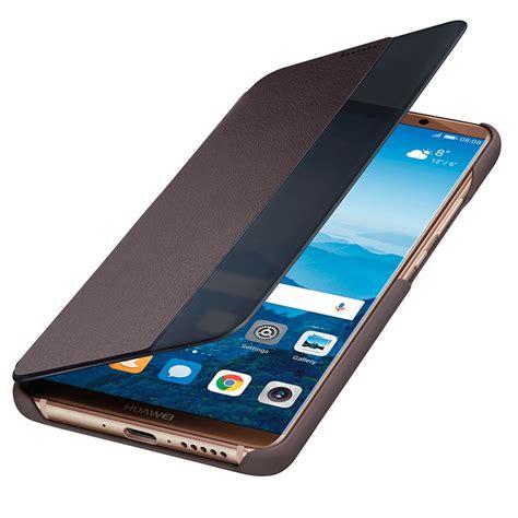 Smart Flip Cover Huawei Mate 10 Mate 10 Pro Original huawei mate 10 pro smart view flip 51992173 brown
