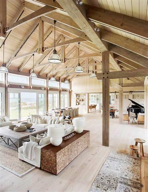 barn living beach barn house style home tour cococozy