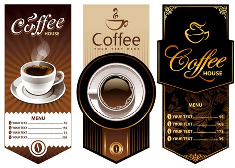 coffee price list template creative coffee menu cover background vector vector