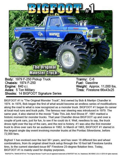 bigfoot 9 monster truck 298 best images about bad ford on pinterest ford