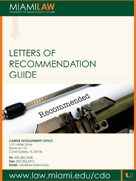 Letter Of Recommendation Guide letters of recommendation guide for free