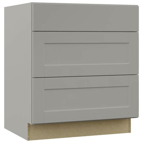pots and pans drawer cabinet hton bay shaker assembled 30x34 5x24 in pots and pans