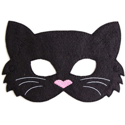 How To Make A Cat Mask Out Of Paper Plates - cat mask black cat costume felt mask