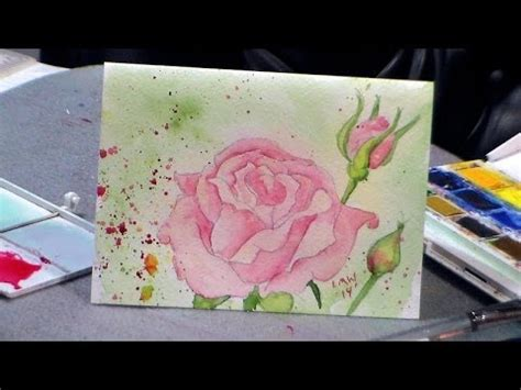 watercolor tutorial frugal crafter how to draw and paint a rose in watercolor redo youtube