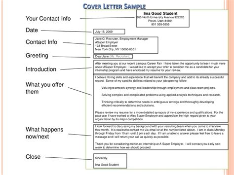 writing good cover letter example of a good cover letter for a job
