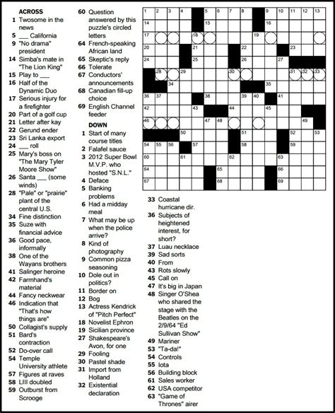 usa today crossword january 2 2015 ryan milligan s puzzling life 06880