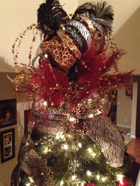 animal print christmas tree my finished projects